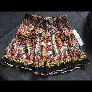 Adorable bohemian shorts, 100% rayon elastic waist